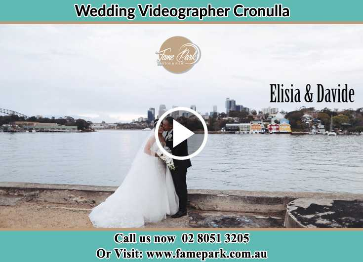 Bride and Groom kissed at the shore Cronulla NSW 2230