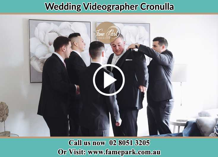 Groom already prepared with his secondary sponsors Cronulla NSW 2230