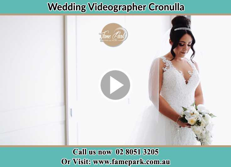 Bride already prepared with bouquet of flowers Cronulla NSW 2230
