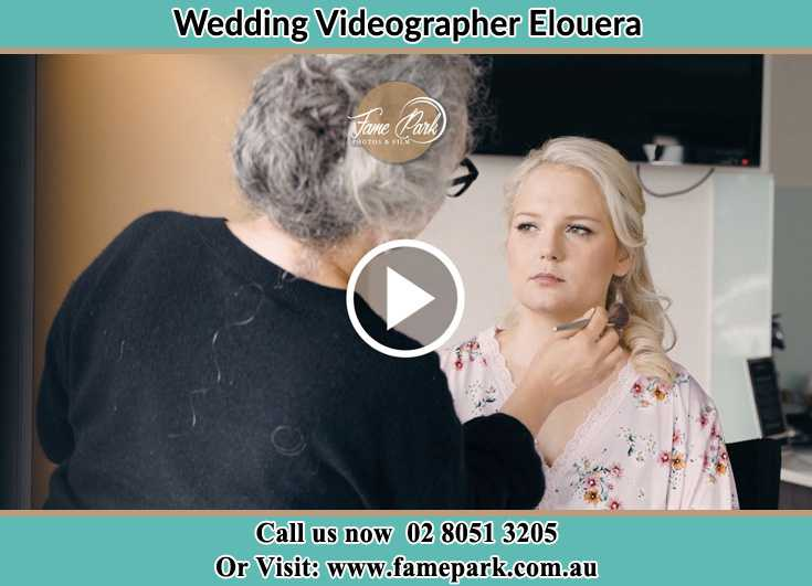 The Bride getting her make up done Elouera NSW 2230