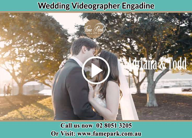Bride and Groom kissed at the park Engadine NSW 2233