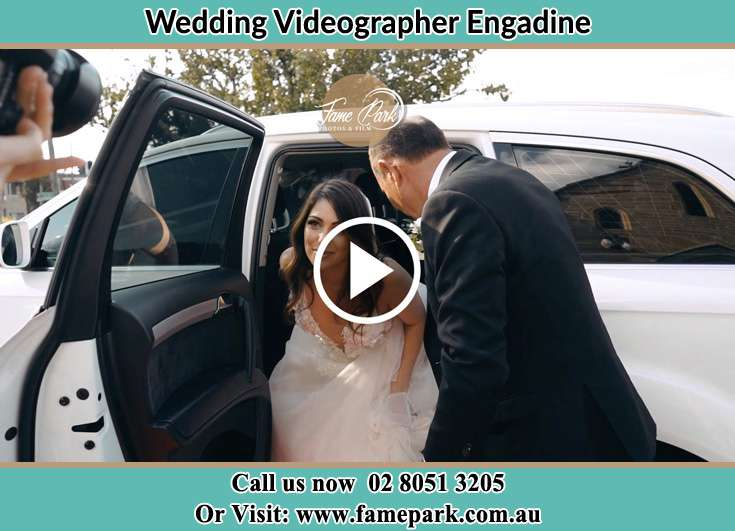 Bride getting out of the bridal car Engadine NSW 2233