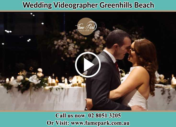 Bride and Groom looking at each other at the dance floor Greenhills Beach NSW 2230