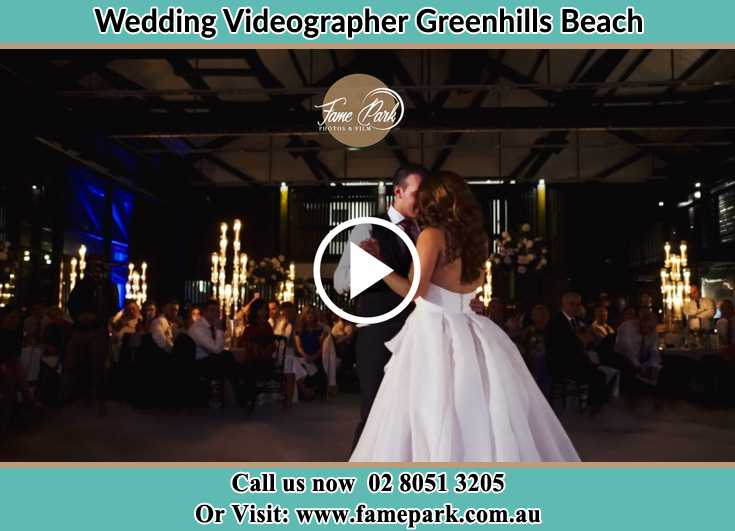 Bride and Groom at the dance floor Greenhills Beach NSW 2230