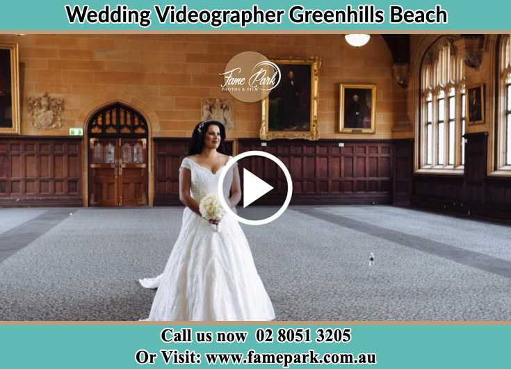 Bride walking in thev aisle Greenhills Beach NSW 2230