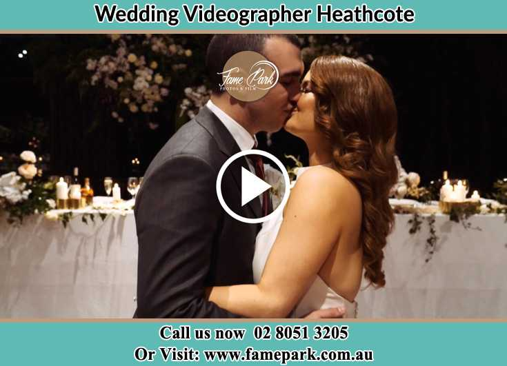 Bride and Groom kissed at the dance floor Heathcote NSW 2233