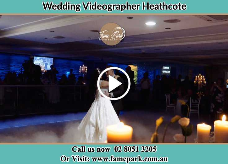 Bride and Groom looking at each other at the dance floor Heathcote NSW 2233