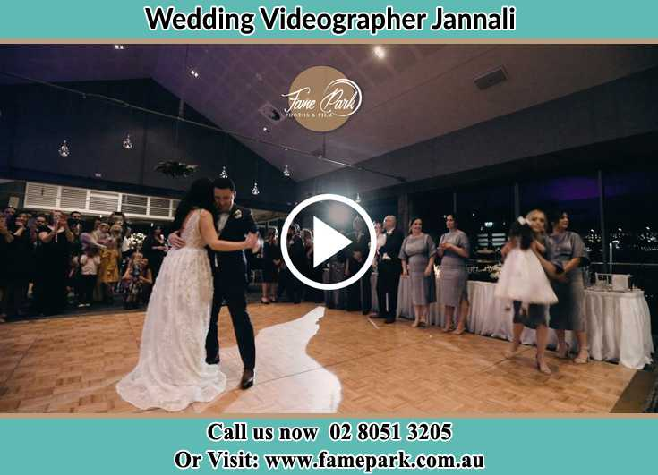 Bride and Groom at the dance floor Jannali NSW 2226