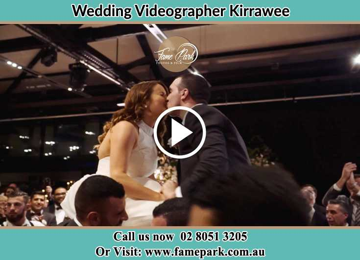 Bride and Groom kissed at the reception Kirrawee NSW 2232