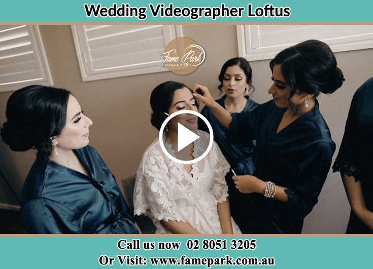 Bride getting her make up done with her secondary sponsors Loftus NSW 2232