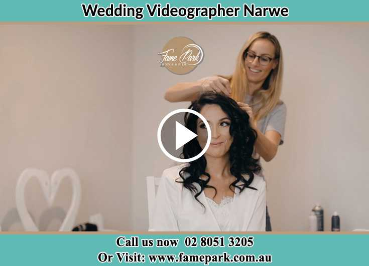 Bride getting her hair fixed Narwee NSW 2209
