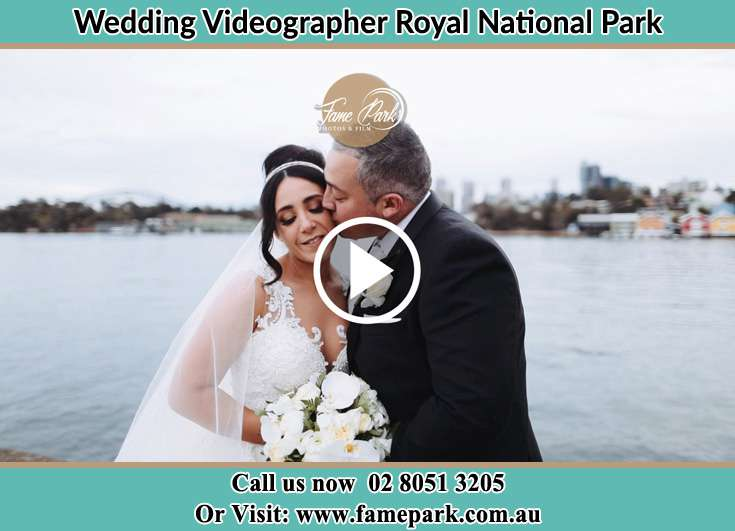 Bride and Groom kissed at the bay Royal National Park NSW 2233
