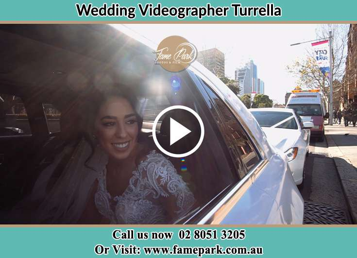 The bride inside the bridal car Turrella NSW 2205