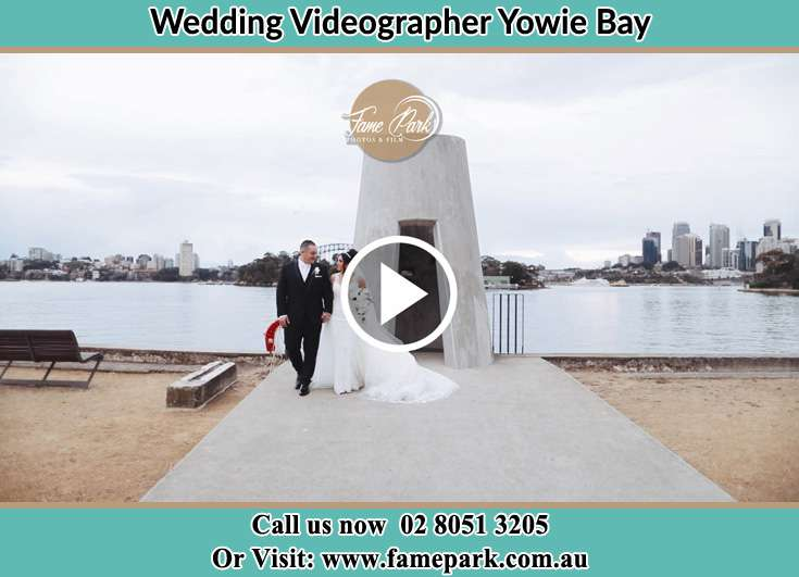 The Groom and the Bride walking in the park Yowie Bay NSW 2228